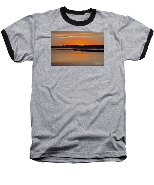Sunset Over Broad Creek Baseball T-Shirt by Carol Bradley