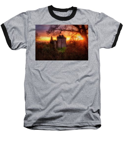 Baseball T-Shirt featuring the photograph Sunset Over Castle Campbell In Scotland by Jeremy Lavender Photography