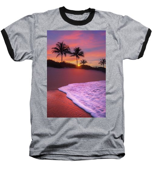 Sunset Over Coral Cove Park In Jupiter, Florida Baseball T-Shirt by Justin Kelefas