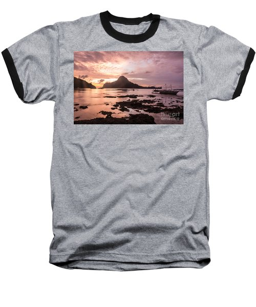 Sunset Over El Nido Bay In Palawan In The Philippines Baseball T-Shirt