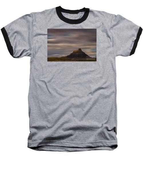 Sunset Over Factory Butte Baseball T-Shirt