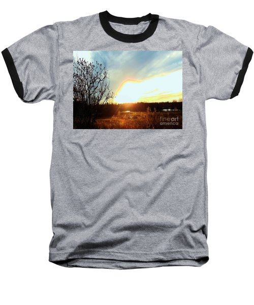 Sunset Over Fields Baseball T-Shirt