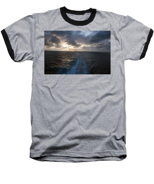 Sunset Over Fort Lauderdale Baseball T-Shirt
