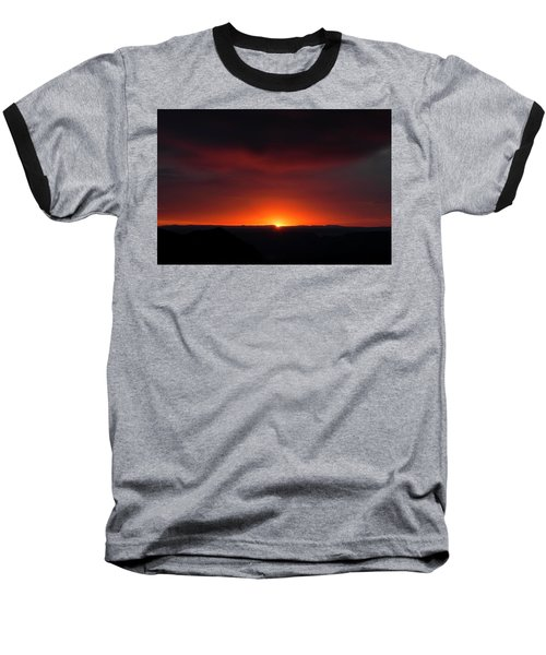 Sunset Over Grand Canyon Baseball T-Shirt