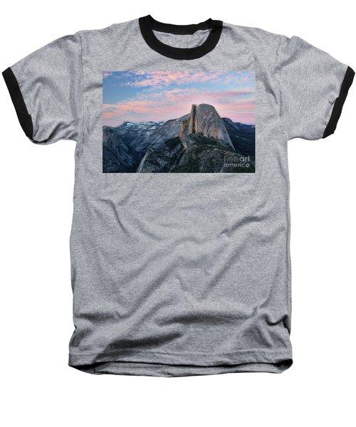 Sunset Over Half Dome Baseball T-Shirt