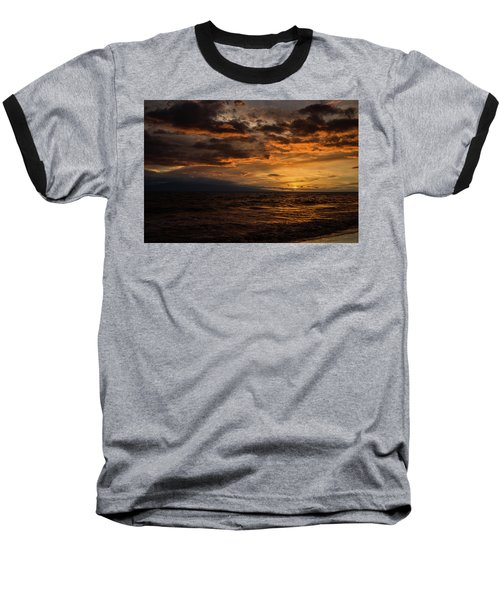 Baseball T-Shirt featuring the photograph Sunset Over Hawaii by Chris McKenna