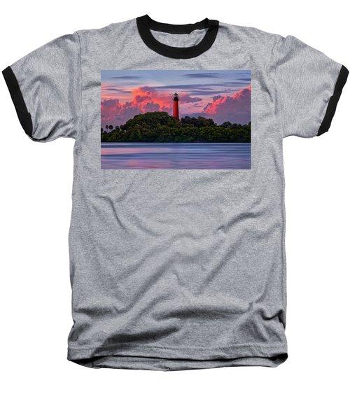 Sunset Over Jupiter Lighthouse, Florida Baseball T-Shirt
