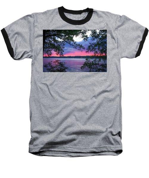 Sunset Over Lake Cherokee Baseball T-Shirt
