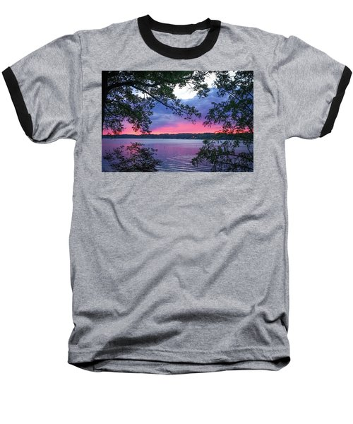 Sunset Over Lake Cherokee Baseball T-Shirt