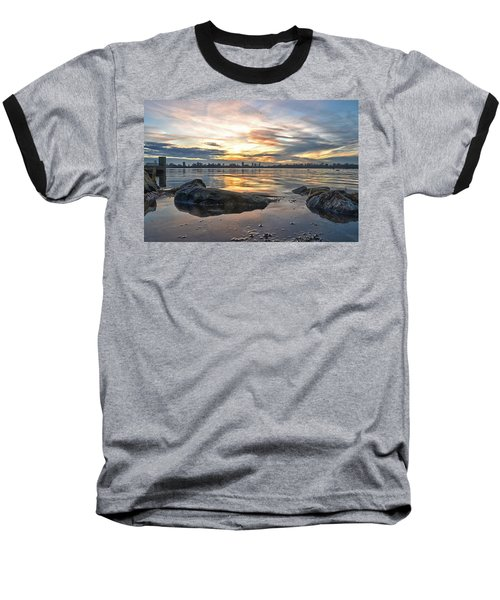 Sunset Over Lake Kralingen  Baseball T-Shirt