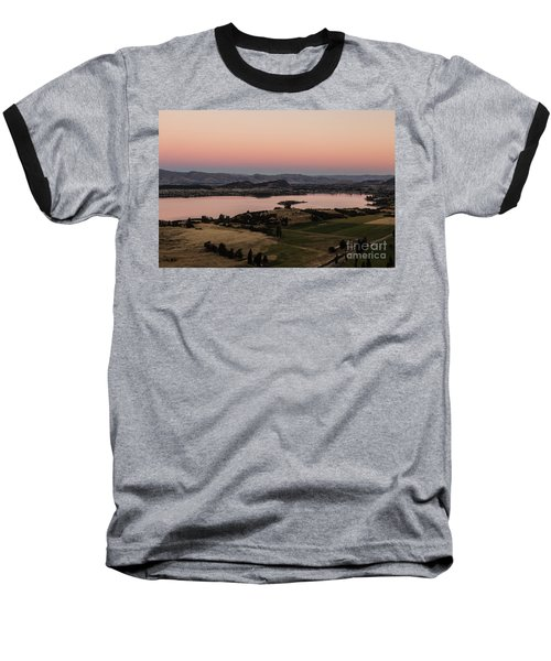 Sunset Over Lake Wanaka In New Zealand Baseball T-Shirt