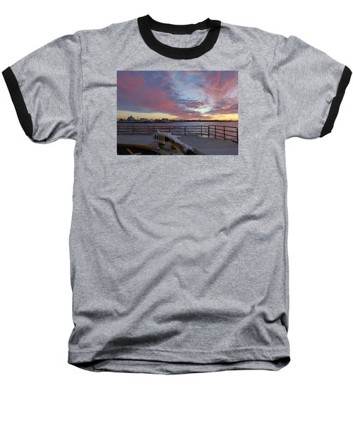 Baseball T-Shirt featuring the photograph Sunset Over Manasquan Inlet 3 by Melinda Saminski