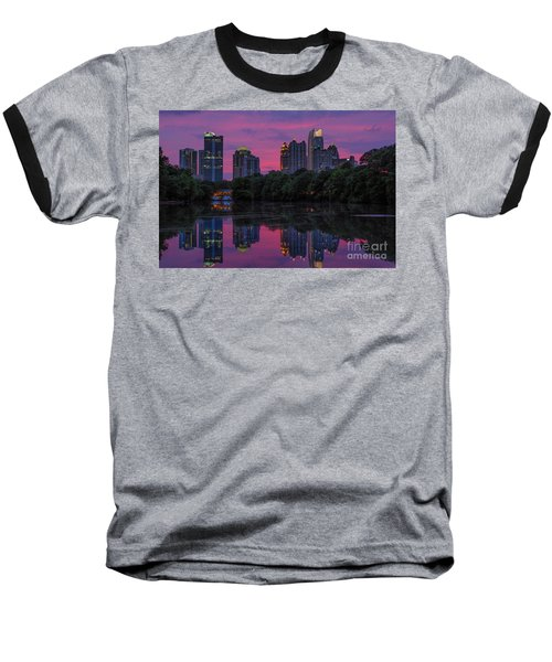 Sunset Over Midtown Baseball T-Shirt