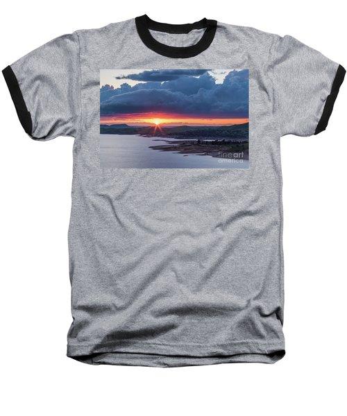 Sunset Over Millerton Lake  Baseball T-Shirt