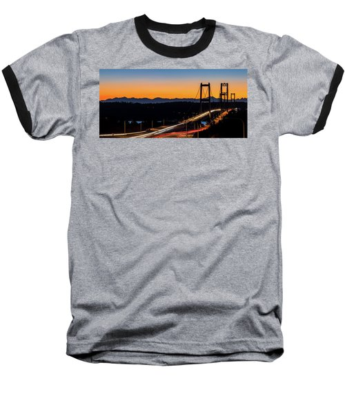 Sunset Over Narrrows Bridge Panorama Baseball T-Shirt by Rob Green