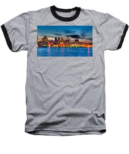 Sunset Over Philadelphia Baseball T-Shirt