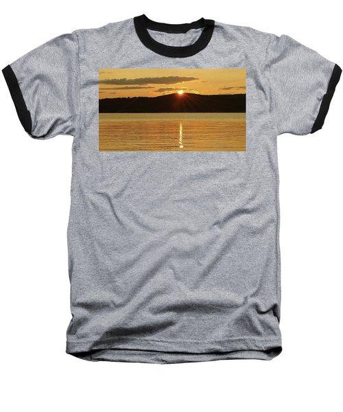Sunset Over Piermont Baseball T-Shirt