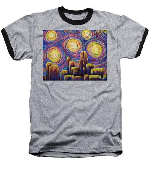 Sunset Over Raleigh Baseball T-Shirt