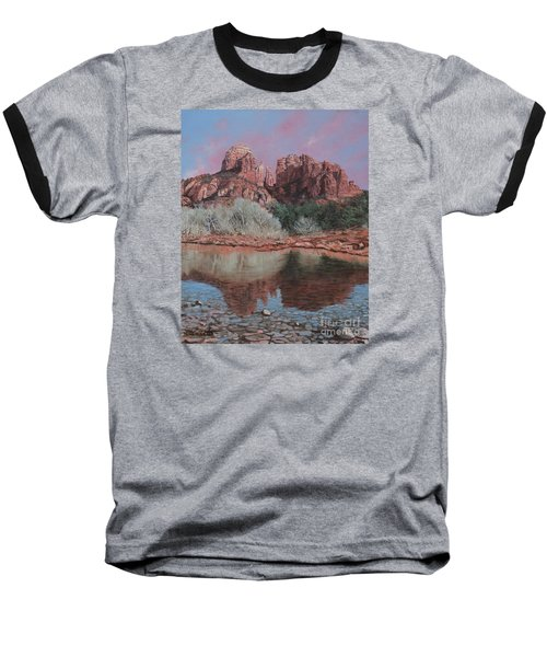 Sunset Over Red Rocks Of Sedona  Baseball T-Shirt
