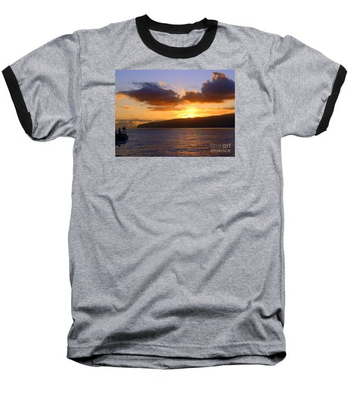Sunset Over Reunion Island Baseball T-Shirt