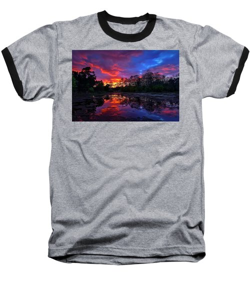 Sunset Over Riverbend Park In Jupiter Florida Baseball T-Shirt