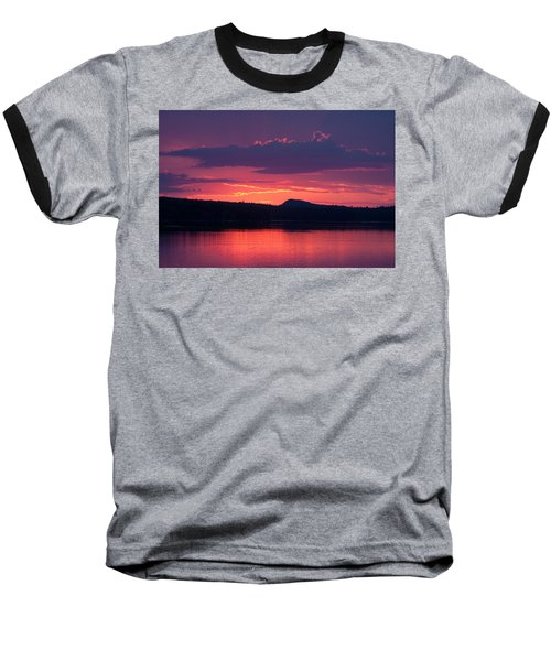 Sunset Over Sabao Baseball T-Shirt by Brent L Ander