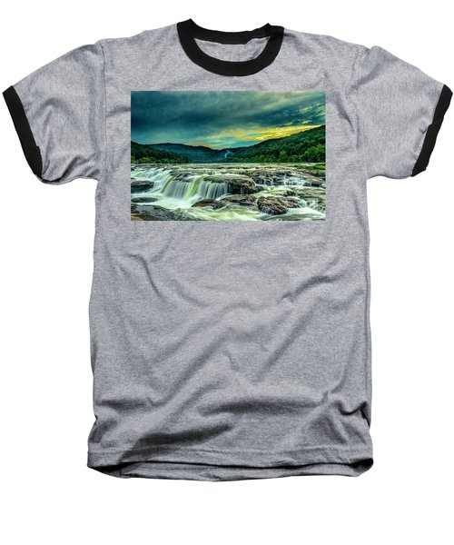 Sunset Over Sandstone Falls Baseball T-Shirt