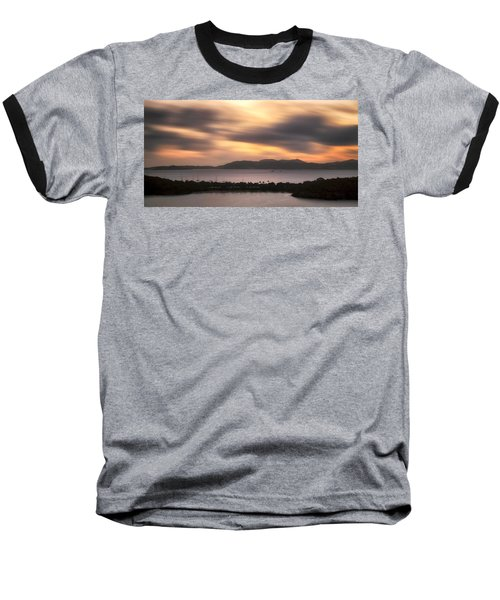 Baseball T-Shirt featuring the photograph Sunset Over St. John And St. Thomas Panoramic by Adam Romanowicz