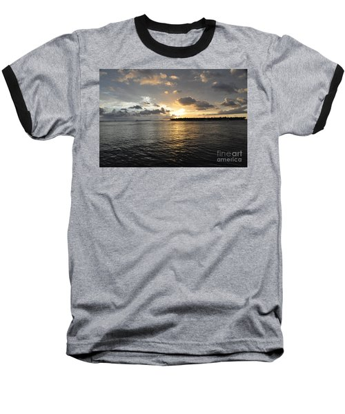Sunset Over Sunset Key Baseball T-Shirt
