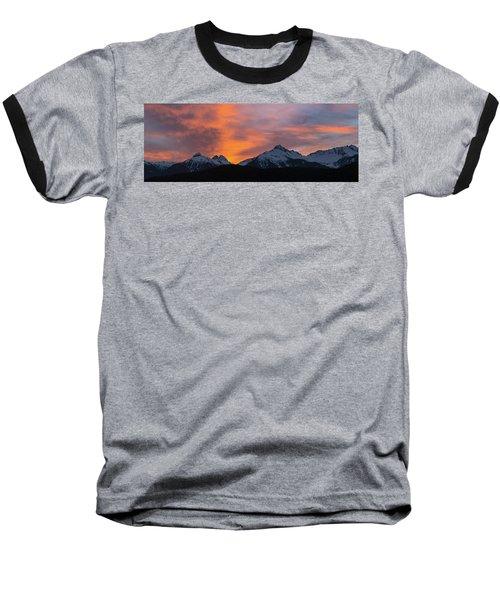 Sunset Over Tantalus Range Panorama Baseball T-Shirt