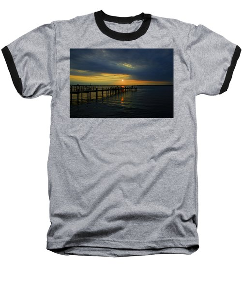 Sunset Over The Bay Baseball T-Shirt