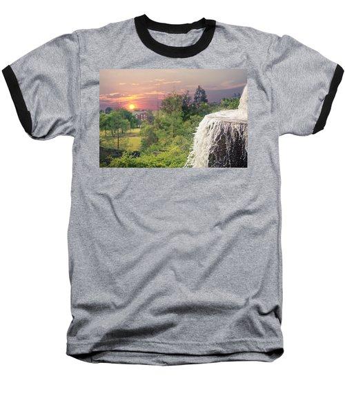 Sunset Over The City Baseball T-Shirt