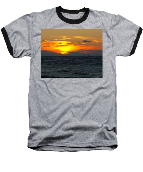 Sunset Over The City Baseball T-Shirt