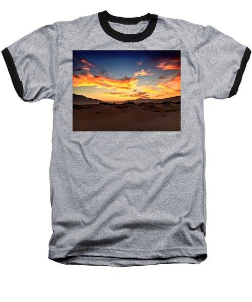 Sunset Over The Desert Baseball T-Shirt by Chris Tarpening