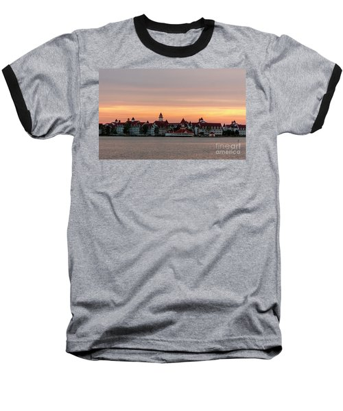 Sunset Over The Grand Floridian Baseball T-Shirt