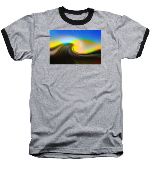 Baseball T-Shirt featuring the photograph Sunset Over The Lake by Lewis Mann