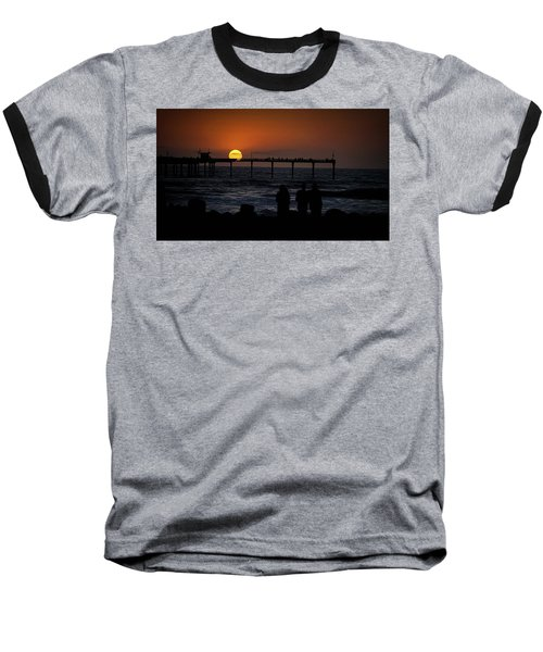 Sunset Over The Pier Baseball T-Shirt