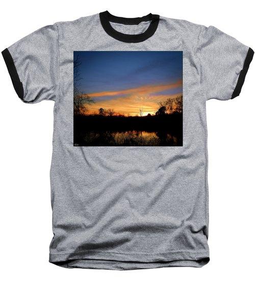 Sunset Over The Sabine 02 Baseball T-Shirt