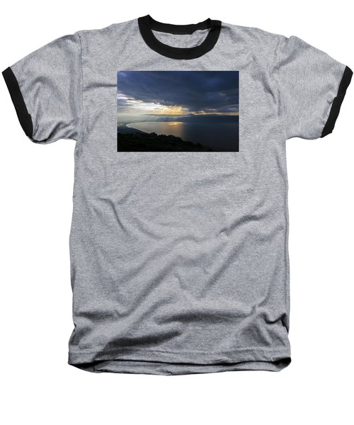 Baseball T-Shirt featuring the photograph Sunset Over The Sea Of Galilee by Dubi Roman