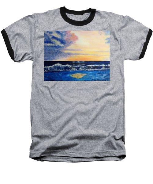 Sunset Over The Sea Baseball T-Shirt