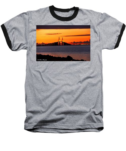 Sunset Over The Skyway Bridge Baseball T-Shirt