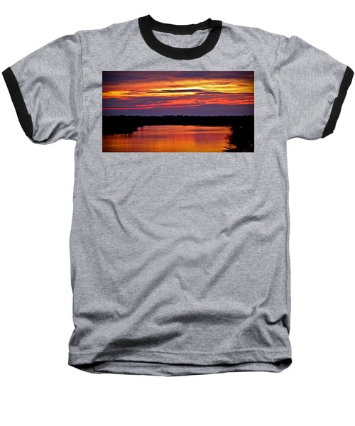 Sunset Over The Tomoka Baseball T-Shirt