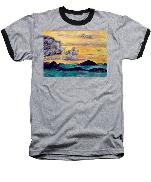 Sunset Over The Virgin Islands Baseball T-Shirt