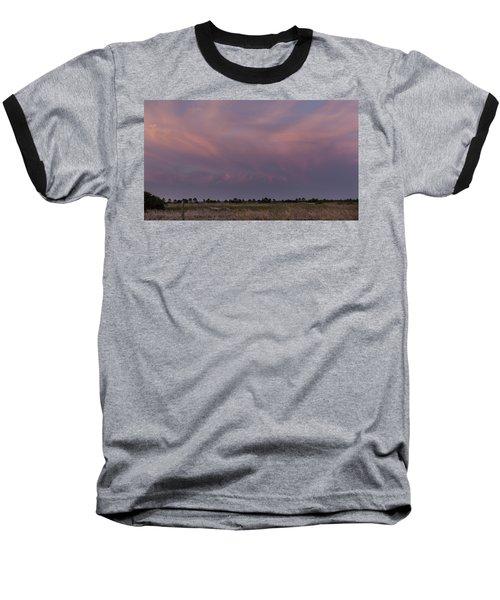 Sunset Over The Wetlands Baseball T-Shirt