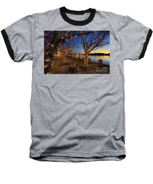 Sunset Over The Wilmington Waterfront In North Carolina, Usa Baseball T-Shirt