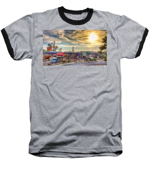 Sunset Over Tomorrowland Baseball T-Shirt