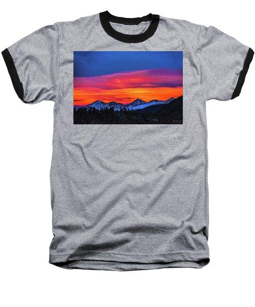Sunset Over Torreys And Grays Peaks Baseball T-Shirt