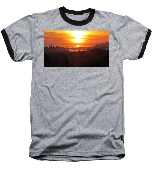 Sunset Over Vancouver Baseball T-Shirt