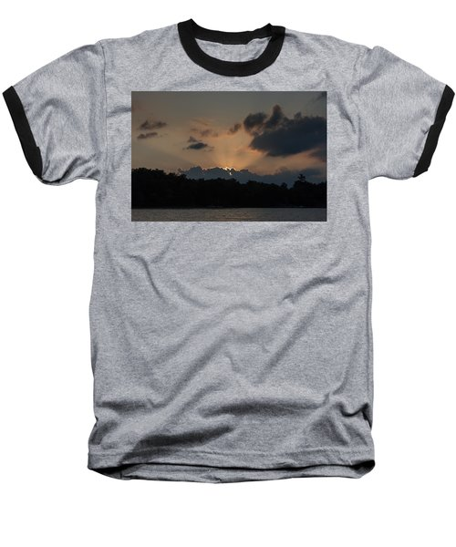 Sunset Over Wilderness Point Baseball T-Shirt