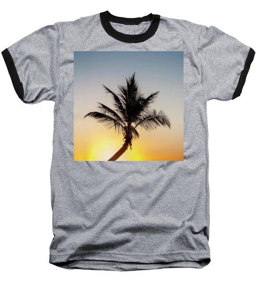 Baseball T-Shirt featuring the photograph Sunset Palm by Az Jackson